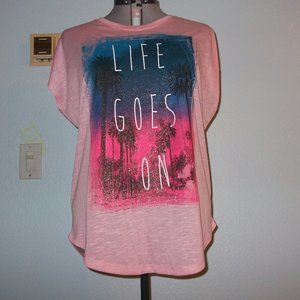 Fade To Pink Plus Size 1X Life Goes On